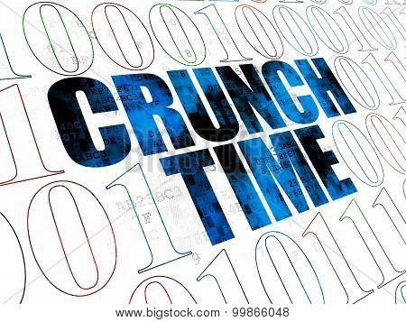 Finance concept: Crunch Time on Digital background