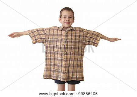 daddy's shirt isolated on white background