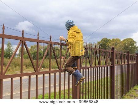 climb fence