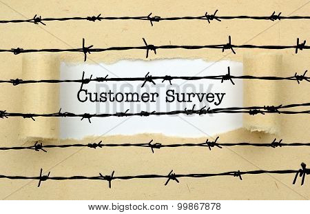 Customer Survey Text Against Barbwire