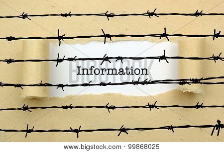 Information Text Against Barbwire