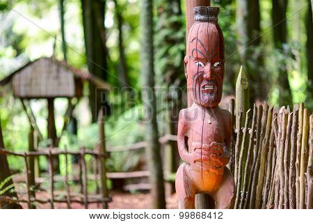 Maori tribes traditional village. New Zealand