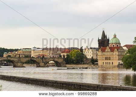 Vltava River and St. Charles bridge
