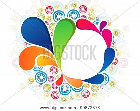 Abstract Colorful Artistic Rainbow Floral Explode