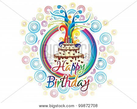 Abstract Artistic Birthday Background