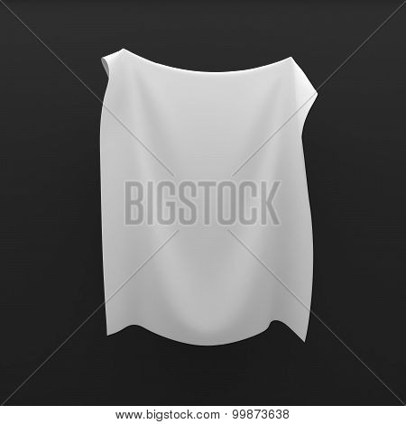Cloth frame background with drapery, blank for text or other