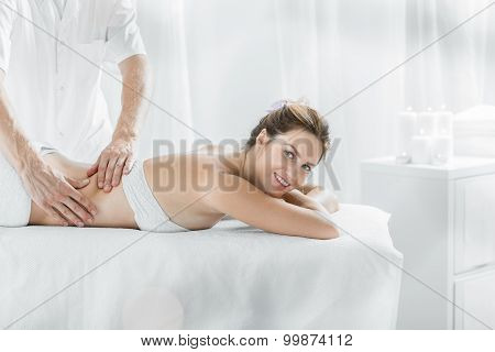 Modern Female In Massage Salon