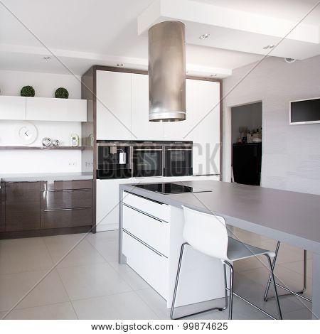 Houseplants In Exclusive Kitchen