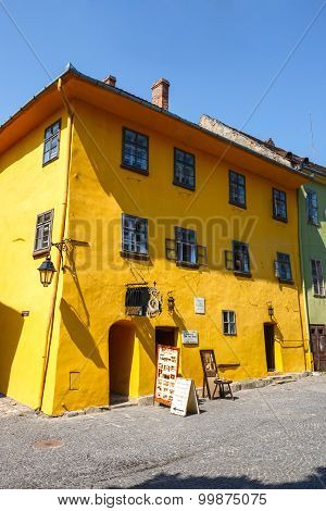 Sighisoara, Romania - July 08: Historic Town Sighisoara On July 08, 2015. City In Which Was Born Vla