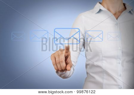 Email Send Conceptual Work on Visual Screen