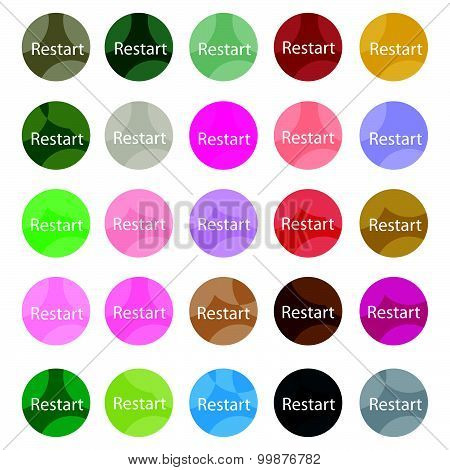 Set Of 16 Restart Icons Or Reset Icons