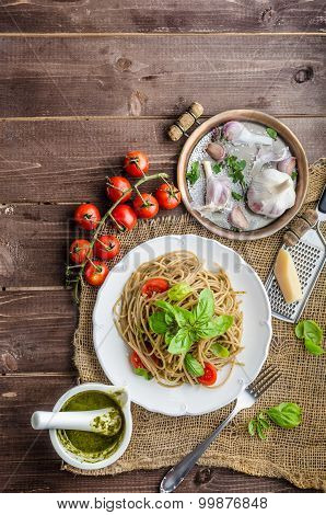 Pasta With Milan Pesto