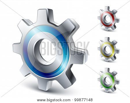 Vector Settings Icon In Different Colors