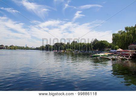 Shichahai lake of Beijing