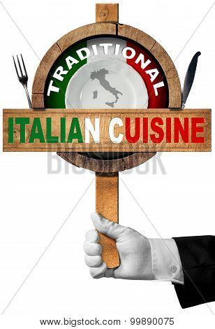 Traditional Italian Cuisine Sign