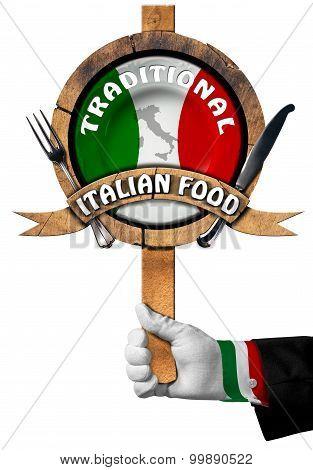 Traditional Italian Food Sign