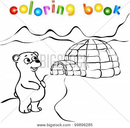 Polar Bear, Ice Yurt Igloo Coloring Book