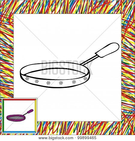 Fryer With Handle Coloring Book