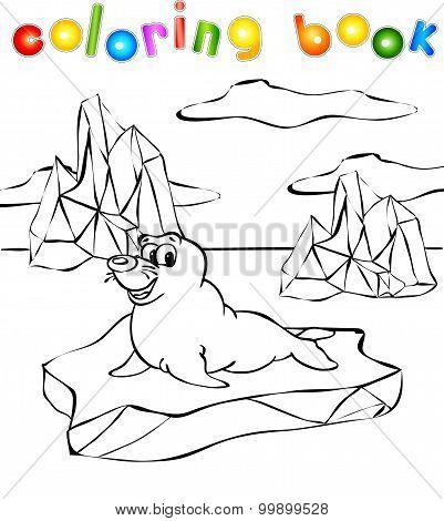 Fur Seal On The Iceberg Coloring Book
