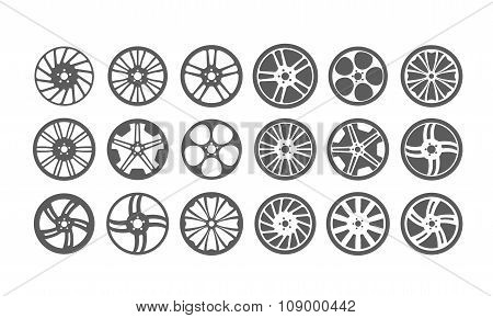 Icon Car Wheel Silhouette