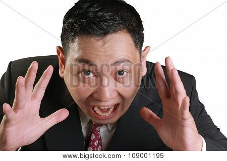 Stressed Businessman Screaming