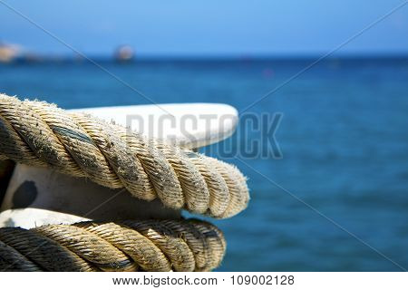 Asia In The  Kho Tao Bay Isle White      Rope  And South China Sea  Anchor