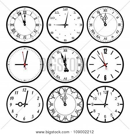 Set  Dials Of Hours