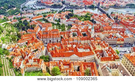 Area Lesser Town Of Prague, Near The Church Saint Vitus, Roofs Of Mala Strana. Czech Republic.