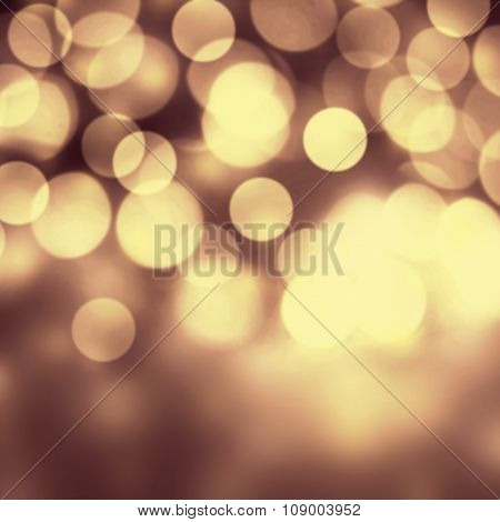 Holiday Abstract Background. Festive Christmas Elegant Abstract Background With Bokeh Light