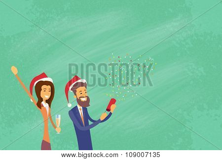 Businesspeople Celebrate Merry Christmas And Happy New Year