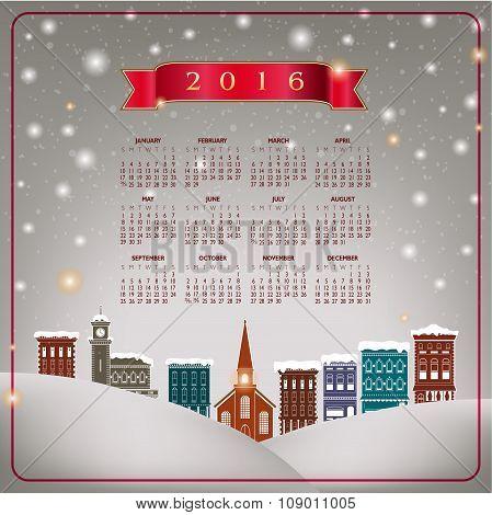 A 2016 quaint Christmas calendar