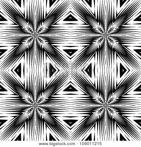 Design Seamless Monochrome Geometric Pattern