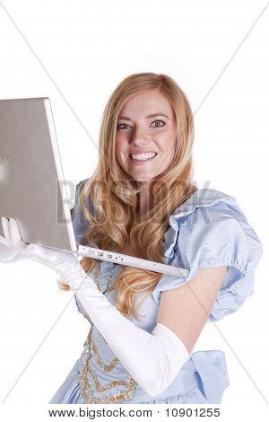 Prinzessin glücklich Computer