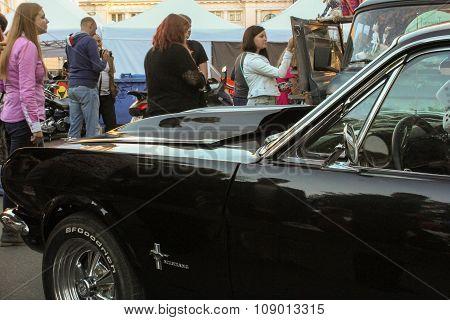 Mustang Racing Car On Display.
