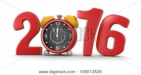 Clock 2016  (clipping path included)