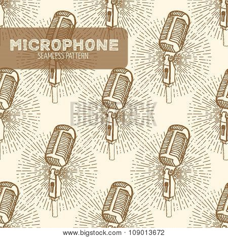 Microphone seamless pattern