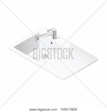 Kitchen Sink Isometric Icon