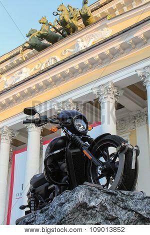 Motorcycle On A Background Alexandrinka.
