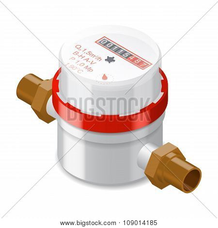 Water Meter Isometric Icon