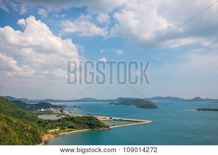 Beautiful sea. Bay or Gulf of Thailand, Toey Ngam Bay.Sattahip District, Chonburi.