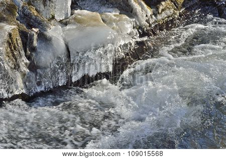 Icicles And Stream