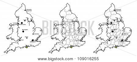 Isle of Wight located on map of England