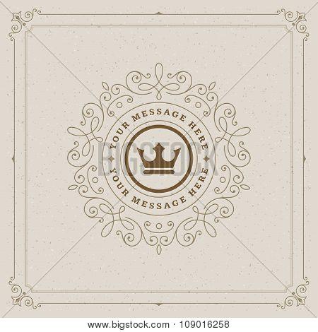 Luxury Logo template flourishes calligraphic elegant ornament lines