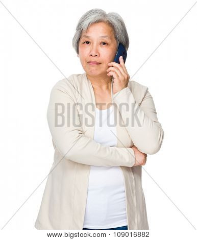 Grandmother chat with cellphone