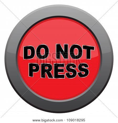Do Not Press Dark Metal Icon