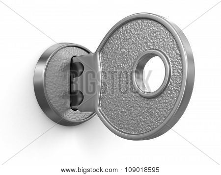 Key and lock (clipping path included)