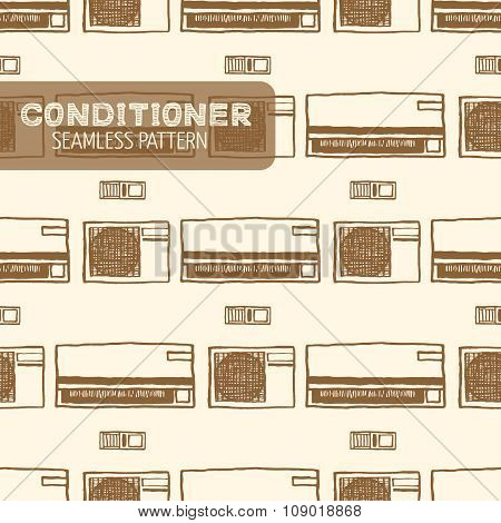 Air conditioner seamless pattern