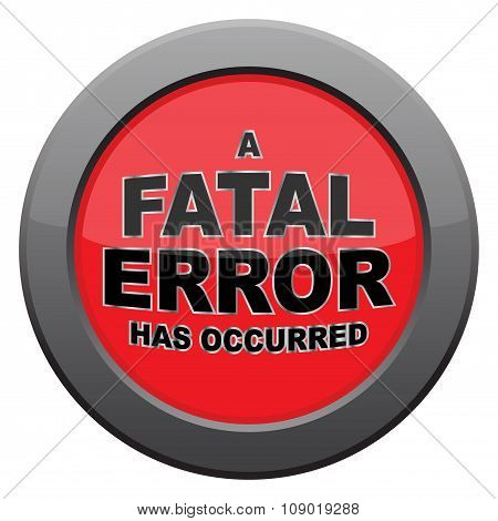 Fatal Error Dark Metal Icon
