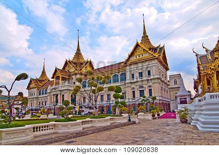 BANGKOK, THAILAND - JUNE 3, 2012: Chakri Mahaprasad Hall in the Grand Palace in Bangkok serves as museum nowadays.mit Museum