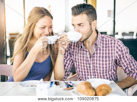 Couple Making Breakfast At Home